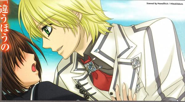 Tags: Anime, Vampire Knight, Yuki Cross, Ichijou Takuma, Wallpaper, Official Art, Self Scanned, CG Art, Scan, Facebook Cover