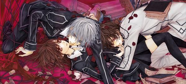 Tags: Anime, Hino Matsuri, Vampire Knight Illustrations, Vampire Knight, Yuki Cross, Kiryuu Zero, Kuran Kaname, Threesome, Scan, Facebook Cover, Official Art