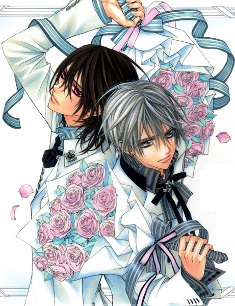 Tags: Anime, Hino Matsuri, Vampire Knight Illustrations, Vampire Knight, Kiryuu Zero, Kuran Kaname