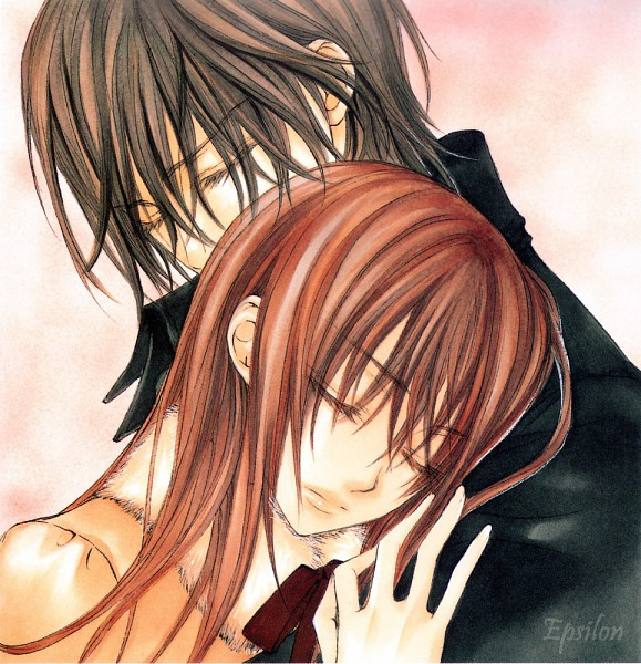 Tags: Anime, Hino Matsuri, Vampire Knight Illustrations, Vampire Knight, Kuran Kaname, Yuki Cross, Official Art