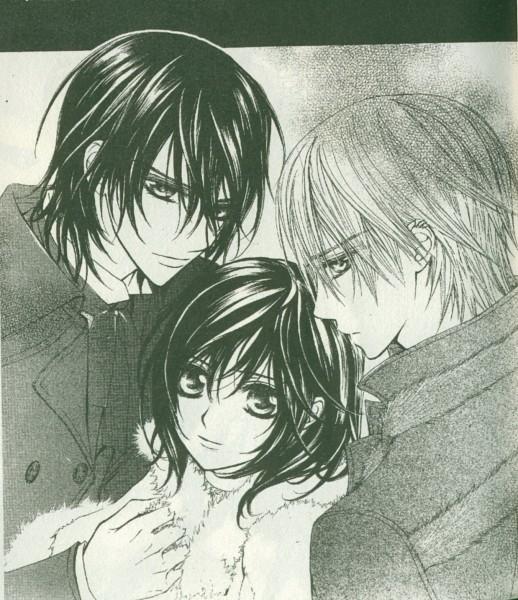 Tags: Anime, Vampire Knight, Yuki Cross, Kiryuu Zero, Kuran Kaname, Scan, Manga Page