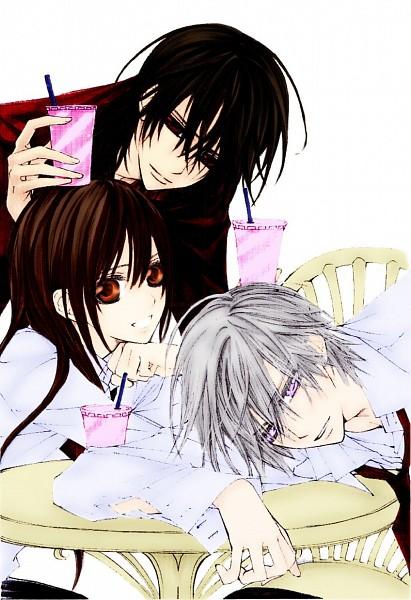 Tags: Anime, Hino Matsuri, Vampire Knight, Kiryuu Zero, Kuran Kaname, Yuki Cross, Laying Head On Desk, Colorization