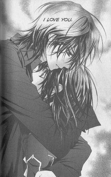 Tags: Anime, Hino Matsuri, Vampire Knight, Yuki Cross, Kuran Kaname, Scan, Mobile Wallpaper, Official Art, Manga Page