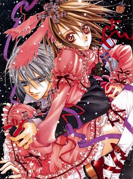 Tags: Anime, Hino Matsuri, Vampire Knight Illustrations, Vampire Knight, Yuki Cross, Kiryuu Zero, Official Art, Scan