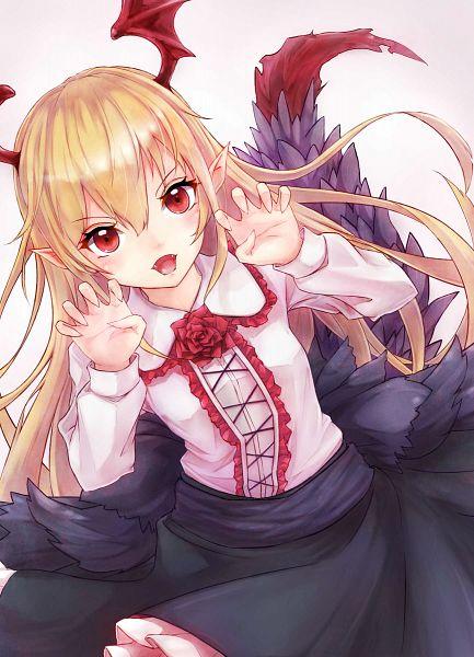 Tags: Anime, Pixiv Id 633130, Granblue Fantasy, Vampy (Shingeki no Bahamut), PNG Conversion, Mobile Wallpaper, Vania (shingeki No Bahamut)