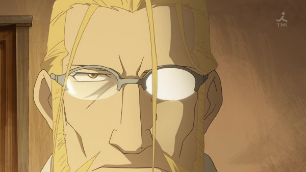 Tags: Anime, Fullmetal Alchemist, Van Hohenheim, Shiny Glasses, Screenshot