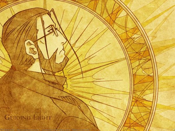 Tags: Anime, SQUARE ENIX, Fullmetal Alchemist, Van Hohenheim, Yellow, Wallpaper