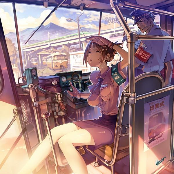 Tags: Anime, Vania600, Train Interior, Pixiv, Original
