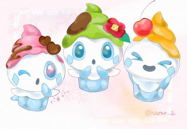 Tags: Anime, Pixiv Id 17835011, Pokémon, Vanillite, >O<, Pixiv, Fanart, Fanart From Pixiv