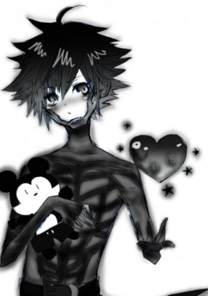 Tags: Anime, Kingdom Hearts: Birth by Sleep, Vanitas, Mickey Mouse, Mobile Wallpaper