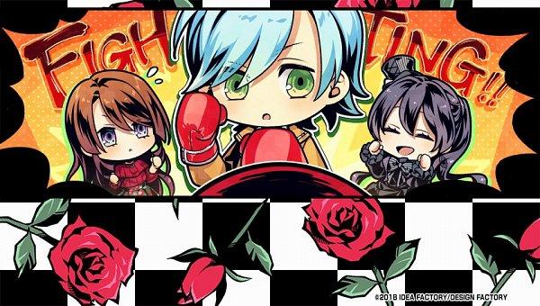 Tags: Anime, Usuba Kagerou, Otomate, DESIGN FACTORY, IDEA FACTORY, Variable Barricade, Kano Tsumugi, Yagami Nayuta, Toujou Hibari, CG Art, Official Art