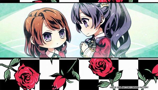 Tags: Anime, Usuba Kagerou, IDEA FACTORY, Otomate, DESIGN FACTORY, Variable Barricade, Toujou Hibari, Kano Tsumugi, Official Art, CG Art