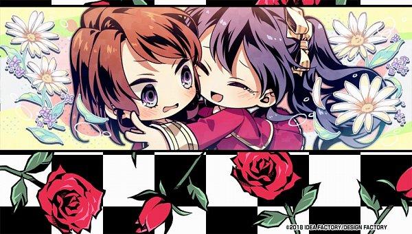 Tags: Anime, Usuba Kagerou, Otomate, IDEA FACTORY, DESIGN FACTORY, Variable Barricade, Kano Tsumugi, Toujou Hibari, Surprise Hug, CG Art, Official Art
