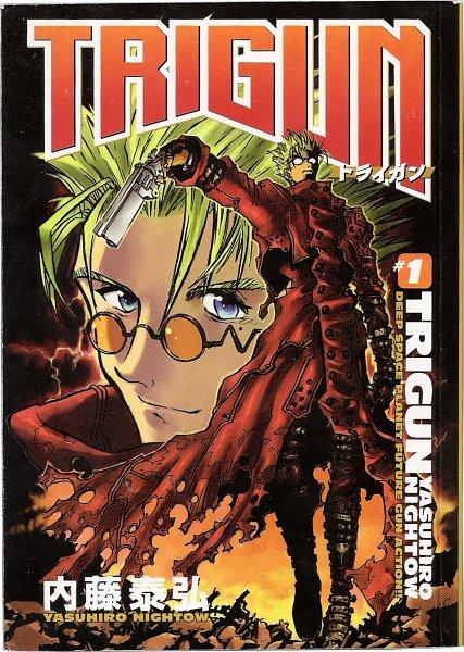 Tags: Anime, Nightow Yasuhiro, Trigun, Vash the Stampede, Scan, Official Art, Manga Cover