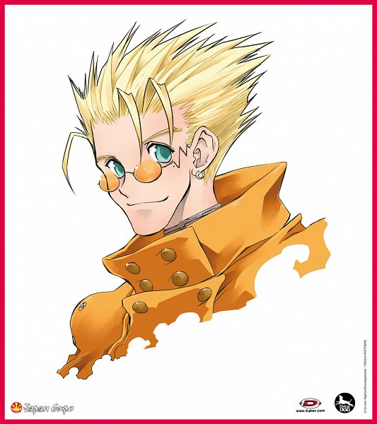 Tags: Anime, Nightow Yasuhiro, Trigun, Vash the Stampede, Official Art, Scan