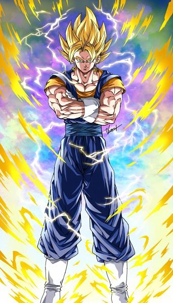 Tags: Anime, Pixiv Id 9040790, DRAGON BALL, DRAGON BALL Z, Vegito, Son Goku (DRAGON BALL), Vegeta, Potara, Character Fusion, Fanart From Pixiv, Fanart, Mobile Wallpaper, Pixiv