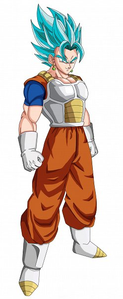 Tags: Anime, Kiber66, DRAGON BALL, DRAGON BALL SUPER, DRAGON BALL Z, Son Goku (DRAGON BALL), Vegeta, Vegito, Potara, Character Fusion, deviantART, Super Saiyan Blue, Super Saiyan
