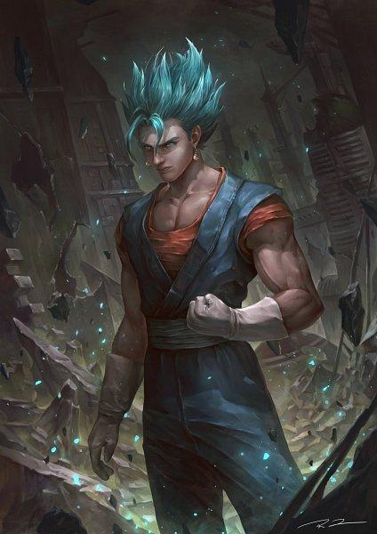 Tags: Anime, Raines-tu, DRAGON BALL, DRAGON BALL SUPER, DRAGON BALL Z, Vegeta, Vegito, Son Goku (DRAGON BALL), Character Fusion, Potara, deviantART, Super Saiyan Blue, Super Saiyan
