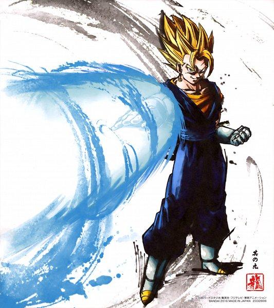 Tags: Anime, DRAGON BALL, DRAGON BALL Z, Vegeta, Vegito, Son Goku (DRAGON BALL), Character Fusion, Potara, Vector, Official Art, Super Saiyan
