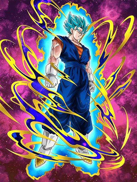 Tags: Anime, DRAGON BALL SUPER, DRAGON BALL, DRAGON BALL Z, Vegito, Son Goku (DRAGON BALL), Vegeta, Potara, Character Fusion, Aura, Super Saiyan, Super Saiyan Blue, Super Saiyan God