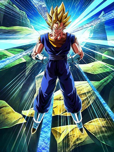Tags: Anime, DRAGON BALL, DRAGON BALL Z, Son Goku (DRAGON BALL), Vegeta, Vegito, Potara, Character Fusion, Wallpaper