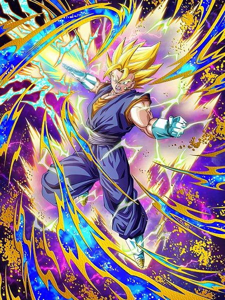 Tags: Anime, DRAGON BALL, DRAGON BALL Z, Vegeta, Vegito, Son Goku (DRAGON BALL), Aura, Potara, Character Fusion, Super Saiyan