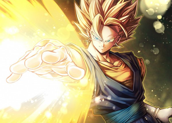 Tags: Anime, Pixiv Id 46367193, DRAGON BALL, DRAGON BALL Z, Vegito, Son Goku (DRAGON BALL), Vegeta, Character Fusion, Potara, Pixiv