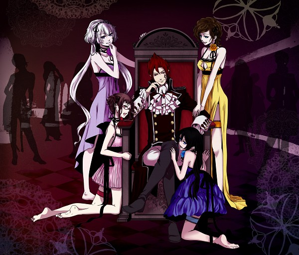 Tags: Anime, Pixiv Id 773880, UTAU, VOCALOID, Soune Ria, Akabane Karasu, Aoi Koruri, Harem, Supune Niku, Pixiv, Venomania no Ouyake no Kyouki, Fanart, The Madness Of Duke Venomania
