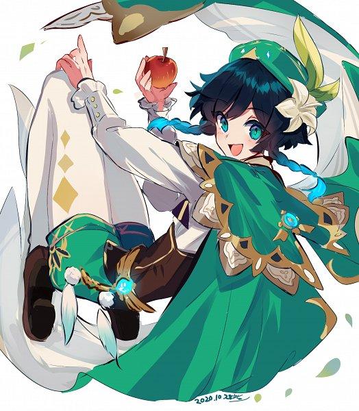 Tags: Anime, Macchoko, Genshin Impact, Venti, Pixiv, Fanart, Fanart From Pixiv