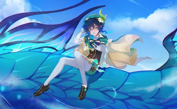 Tags: Anime, Pixiv Id 28360249, Genshin Impact, Dvalin, Venti, Fanart