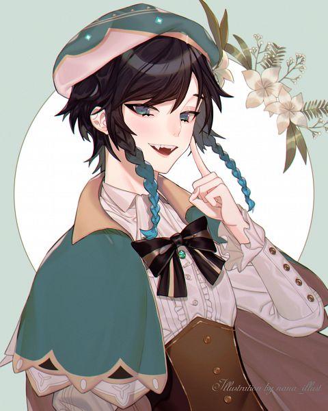Tags: Anime, nana_illust, Genshin Impact, Venti, Pixiv, Fanart, Fanart From Pixiv