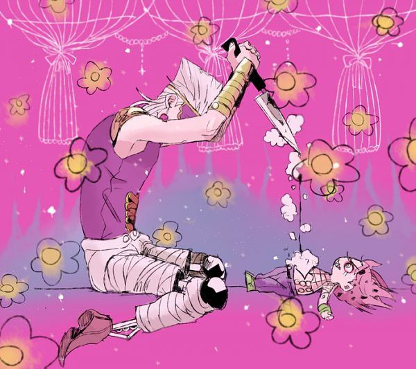 Tags: Anime, Pixiv Id 643549, Vento Aureo, JoJo no Kimyou na Bouken, Diavolo, Jean Pierre Polnareff, Pixiv, Fanart, Fanart From Pixiv, Passione, Golden Wind