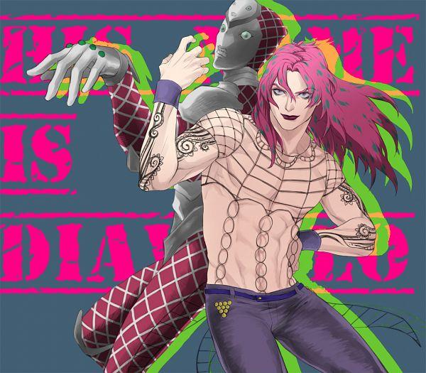 Tags: Anime, Pixiv Id 922771, JoJo no Kimyou na Bouken, Vento Aureo, Diavolo, King Crimson, Pixiv, Fanart, Fanart From Pixiv, Golden Wind