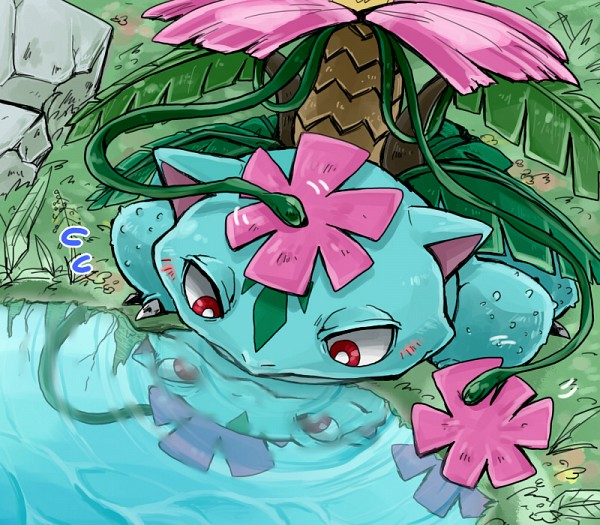 Tags: Anime, Pixiv Id 877850, Pokémon, Venusaur, Fanart From Pixiv, Pixiv, Mega Form (Pokémon), Fanart