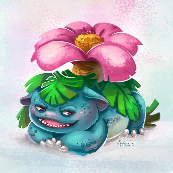 Tags: Anime, TsaoShin, Pokémon, Venusaur, deviantART, Revision, Fanart From DeviantART, Fanart, PNG Conversion
