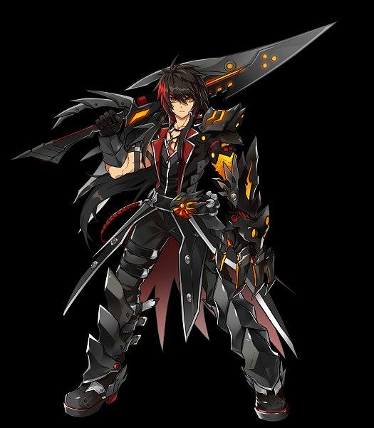 Tags: Anime, Elsword, Raven (Elsword), Veteran Commander (Raven), Official Art