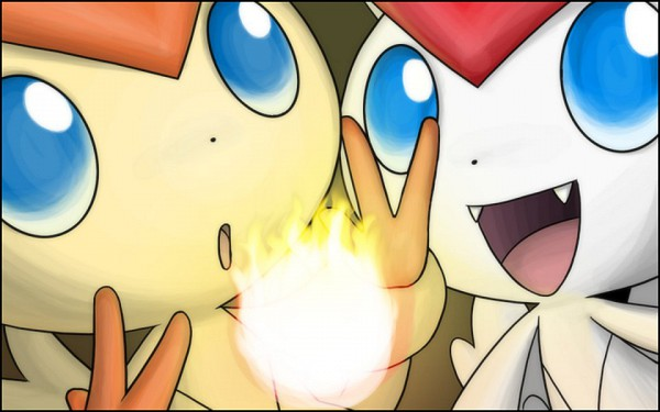 Tags: Anime, Pokémon, Victini, Legendary Pokémon, Shiny Pokémon