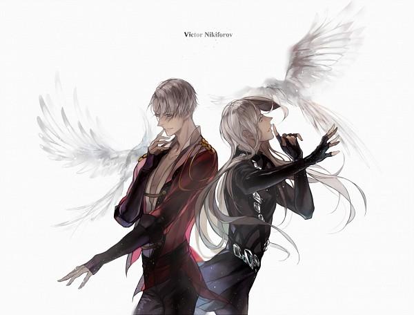 Tags: Anime, 【HZ】, Yuri!!! On Ice, Victor Nikiforov, White Bird, Pixiv, Fanart