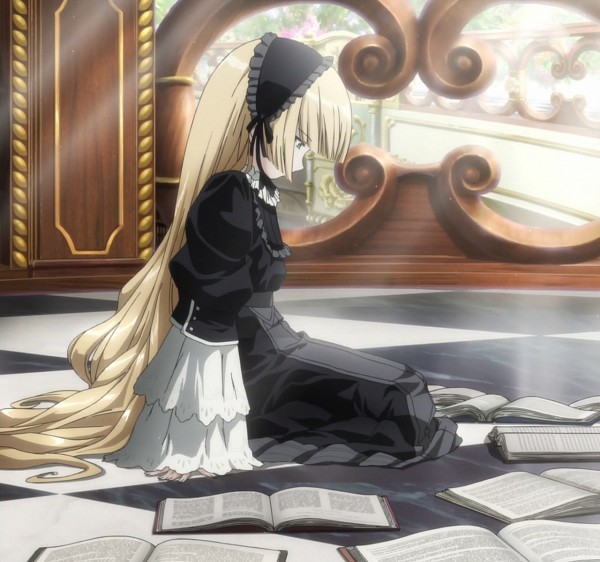 Tags: Anime, GOSICK, Victorique de Blois, Stitched Screenshot, Screenshot