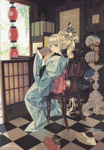 Tags: Anime, Takeda Hinata, GOSICK, Artworks By Takeda Hinata, Victorique de Blois, Painting (Object), Mobile Wallpaper, Official Art
