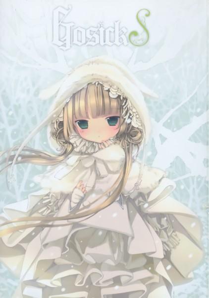 Tags: Anime, Takeda Hinata, GOSICK, Victorique de Blois, Scan, Mobile Wallpaper, Official Art