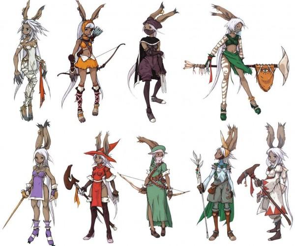 Tags: Anime, Itou Ryouma, Final Fantasy Tactics Advance, Final Fantasy XII, White Mage (Final Fantasy), Viera, Fran (FFXII), Summoner, Official Art, Red Mage