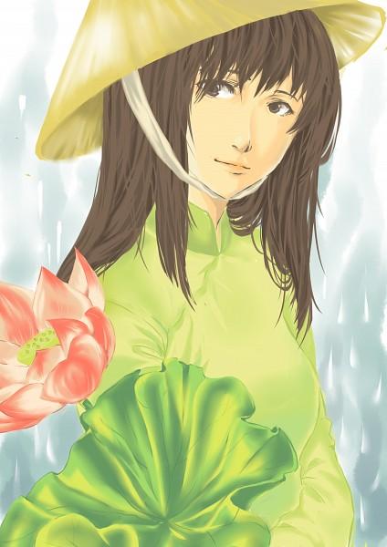 Tags: Anime, Bloobell, Axis Powers: Hetalia, Vietnam, Vietnamese Clothes, Aodai, Nonla, Mobile Wallpaper, deviantART, Asian Countries