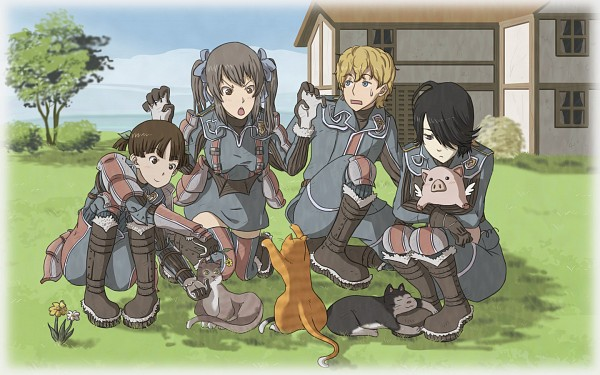 Tags: Anime, Vinhnyu, Sega, Valkyria Chronicles, Homer Peron, Edy Nelson, Hans (Valkyria Chronicles), Wallpaper, Fanart, deviantART