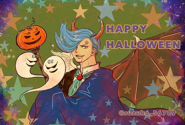 Tags: Anime, Suzuko 56789, ONE PIECE, Vinsmoke Niji, Text: Halloween, Fanart, Twitter, One Piece: Two Years Later
