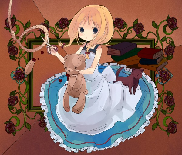 Tags: Anime, Pixiv Id 1355997, Majo no Ie, Viola (Majo no Ie), The Black Cat (Majo no Ie), Noose, Pixiv, Fanart, Fanart From Pixiv