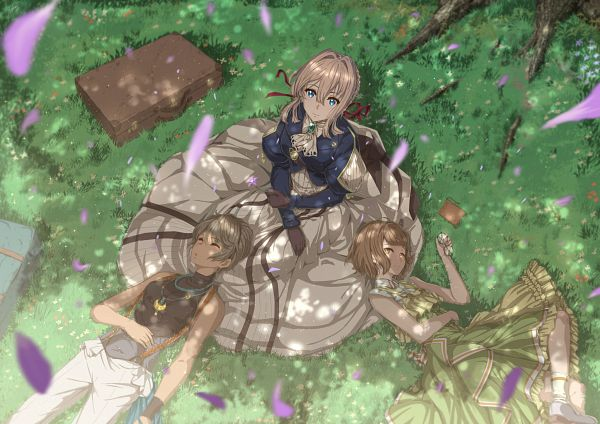 Tags: Anime, Kazeno, Violet Evergarden, Iris Cannary, Erica Brown, Briefcase, Pixiv, Fanart, Fanart From Pixiv