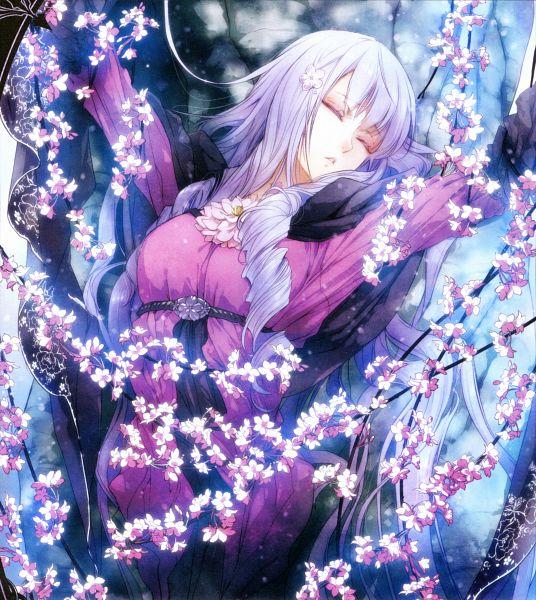 Tags: Anime, Usuba Kagerou, DESIGN FACTORY, Otomate, Reine des fleurs, Violette (Reine des fleurs), Unconscious, Magazine (Source), Scan, Official Art