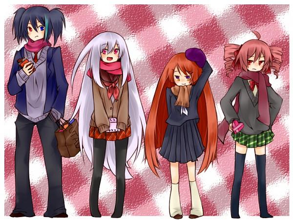 Tags: Anime, Pixiv Id 783375, UTAU, VOCALOID, Namine Ritsu, Yokune Ruko, Sukone Tei, Kasane Teto, Fanart, Pixiv, Vipperloid