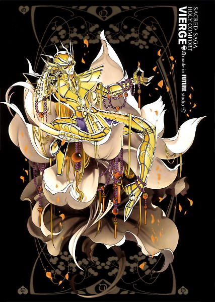 Tags: Anime, Future Studio, Saint Seiya, Sacred Saga, Virgo Shaka, Mobile Wallpaper, Gold Saints